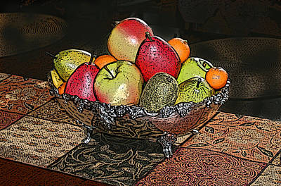 Patchwork Quilts Digital Art - Thanksgiving Table by Shirley Sykes Bracken
