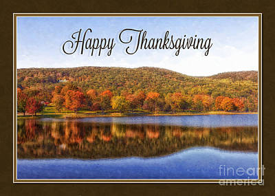 Digital Art - Thanksgiving View by JH Designs