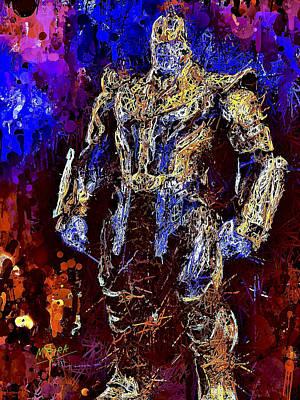 Mixed Media - Thanos by Al Matra