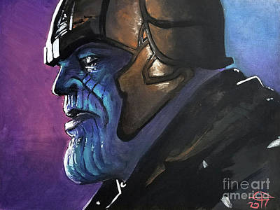 Painting - Thanos by Tom Carlton