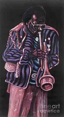 thanx Miles Davis Art Print by George Chacon