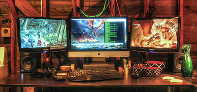 Photograph - Thar Be Dragons In The Home Office by T Brian Jones