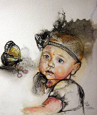 Painting - That Baby 2 Commission by Anne-D Mejaki - Art About You productions