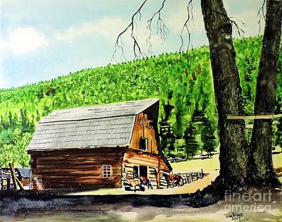 Painting - That Barn From That Movie by Tom Riggs