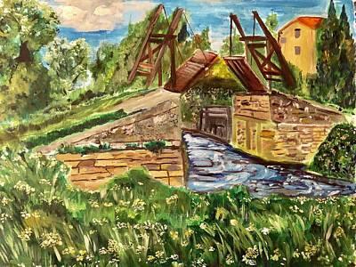 Painting - The Langloise Bridge by Belinda Low
