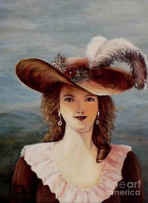 Ostrich Painting - That Feather In Her Hat by Judy Kirouac