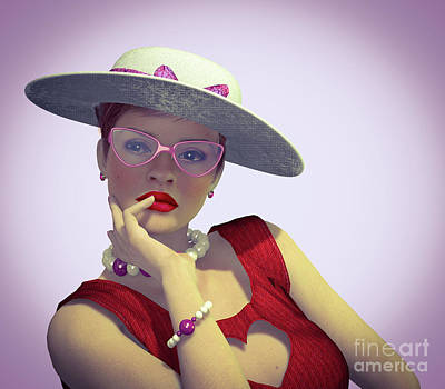Digital Art - That Fifties Look by Barbara Milton