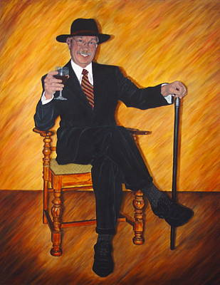 Commision Painting - That Gallantly Smiling Gentleman by Bonnie Peacher