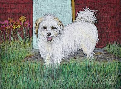 Pastel - That Little White Dog by Reb Frost