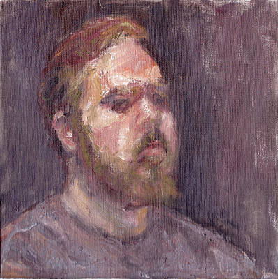 That Look - Contemporary Impressionist Portrait Original by Quin Sweetman