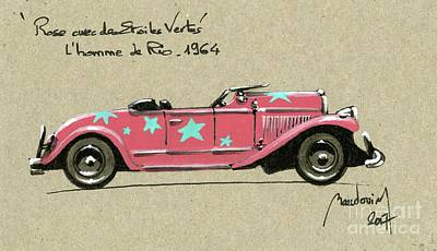 That Man From Rio - 1964 - Pink With Green Stars Original