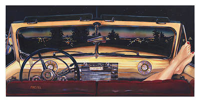 Buick Painting - That Night On Walters Hill by Mike Hill