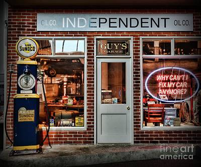 Photograph - That Old Time Gas Station by Paul Ward