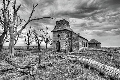 Photograph - That Old Time Religion Black And White by JC Findley