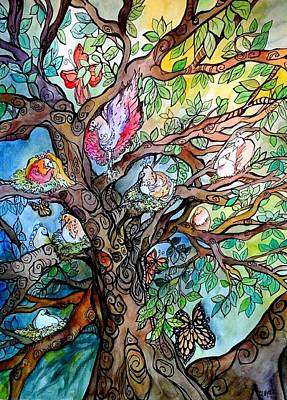 Mixed Media - That Old Tree by Claudia Cole Meek