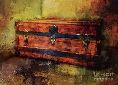 Digital Art - That Old Trunk In The Attic by Lois Bryan