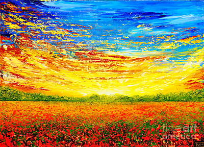 Poppies Painting - That Time Of The Year by Teresa Wegrzyn