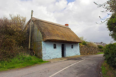 Thatch Roof Cottage Galway Art Print by Pierre Leclerc Photography