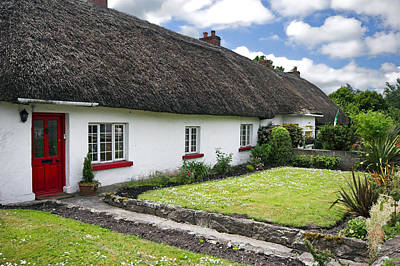 Photograph - Thatch Roof Cottage In Traditional Village Of  Adare Ireland by Pierre Leclerc Photography
