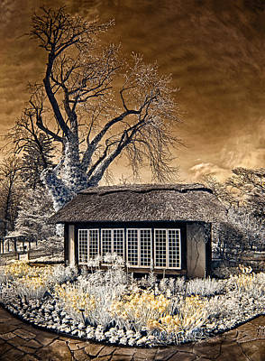 Print featuring the photograph Thatched Cottage by Steve Zimic