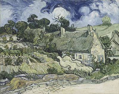 Painting - Thatched Cottages At Cordeville by Artistic Panda