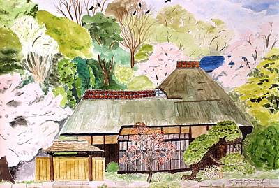 Thatched Japanese House Art Print