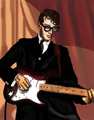 Digital Art - That'll Be The Day- Buddy Holly by David Fossaceca