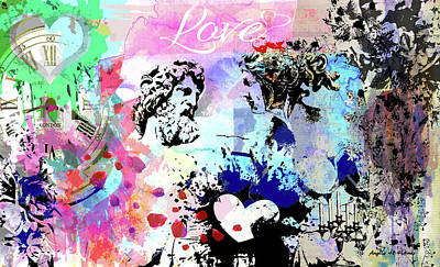 Mixed Media - That's Amore by Angela Holmes
