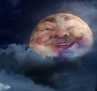 Man In The Moon Digital Art - Thats Amore by Shannon Story