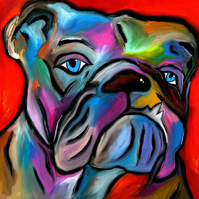 That's Bull - Abstract Dog Pop Art By Fidostudio Print by Tom Fedro - Fidostudio