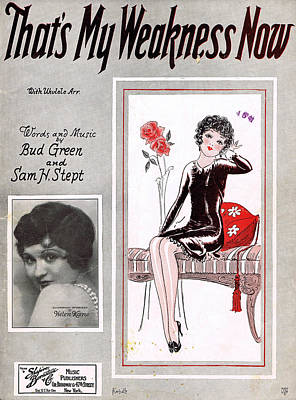 Old Sheet Music Photograph - That's My Weakness Now by Mel Thompson