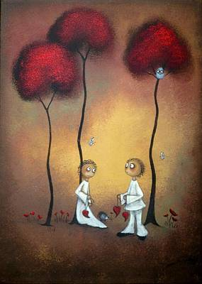 Earth Tones Painting - That's What Friends Are For by Charlene Zatloukal