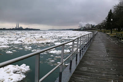 Photograph - Thaw Along The Boardwalk In Saint Clair. 2017 7 by Mary Bedy