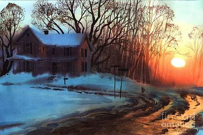 Painting - Thaw by Sergey Zhiboedov