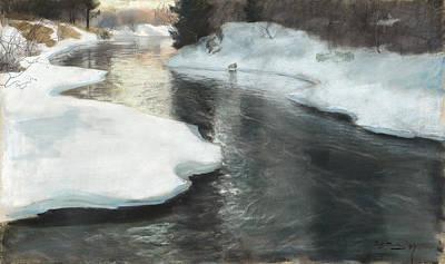 Thawing Ice Art Print