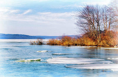 Photograph - Thawing Lake Ice by Carolyn Derstine