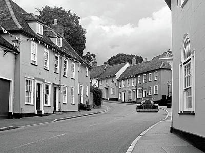 Photograph - Thaxted Cottages In Black And White by Gill Billington