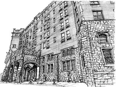 Anniversary Present Drawing - Thayer Hotel In Upstate Ny by Adendorff Design