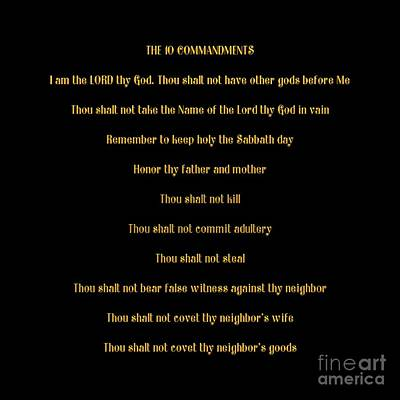 Digital Art - The 10 Commandments by Rose Santuci-Sofranko