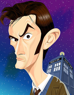 The 10th Doctor Art Print by Kevin Greene