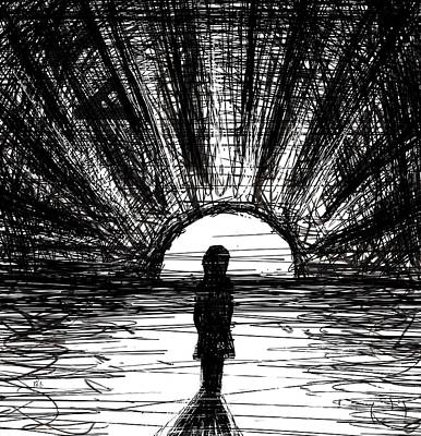 Solitude Drawing - The 12th by Rachel Christine Nowicki