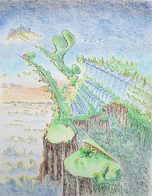 Drawing - The 18th Hole by Dave Martsolf