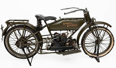 Harley Davidson Photograph - The 1919 Harley Davidson Twin Sport Model  by American School