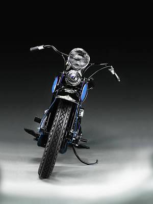 Harley Davidson Photograph - The 1934 Harley by Mark Rogan