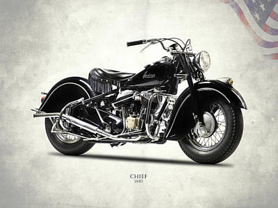 Motorcycle Photograph - The 1947 Chief by Mark Rogan