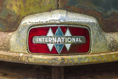 The 1947 International Emblem Ihc Trucks Print by Reid Callaway