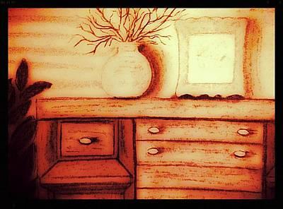 Buffet Drawing - The 1950's Buffet by Debra Lynch