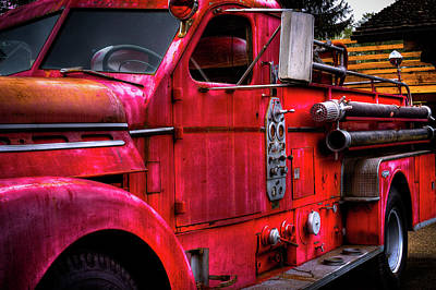 Photograph - The 1954 Seagrave Fire Truck by David Patterson