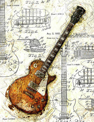 The 1955 Les Paul Custom Art Print