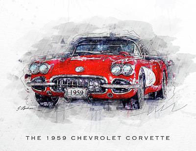 The 1959 Chevrolet Corvette Art Print